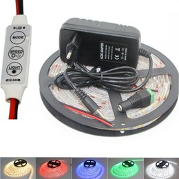 Wholesale Power Supply Pc - Super Bright 5630 led strip light flexible Fita Diode tape lamp ip65 Waterproof 60led M string light set + Dimmer + Power Supply
