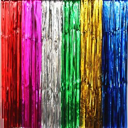 Wholesale Curtain Backdrops For Weddings - New Arrival Tassel Rains Ribbon Non Toxic Easy To Layout Laser Rain Curtain For Wedding Backdrop Wall Hanging Decorations Supplies 8be3 B