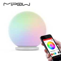 Wholesale Glass Led Tap - MIPOW PLAYBULB Sphere Smart Color Changing Waterproof Dimmable LED Glass Orb Light Floor Lamp Night Lights Tap to Change Color