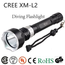 Wholesale Torch High Quality Diving - High quality underwater diving torch L2 led diving flashlight waterproof Hunting, camping T6 tactical flashlight lamp lantern