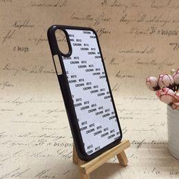 2019 casos de sublimação lg Alta qualidade 2d sublimação em branco pc + alumínio hard case para iphone xs max diy impresso preto aad branco pc case para iphone x xr casos de sublimação lg barato