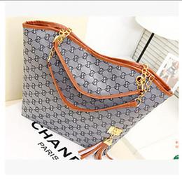 Wholesale vintage handbags hobo - Designer Bags Hot Sale New High Quality Canvas Chain Shoulder Bags Casual Fashion Handbag Fringed Decoration Single Shoulder Chain Bag