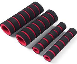 Wholesale Bicycle Bar Grips - 2Pcs Bike Racing Bicycle Motorcycle Handle Bar Foam Four Sponge Grip Cover Red
