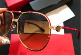 Wholesale Eyewear Aviator - New fashion designer sunglasses classic aviator frame top quality with leather popular selling style uv 400 protection eyewear with box