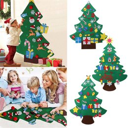 kids craft room Coupons - Kids DIY Christmas Tree Set with Ornaments Boys Girls Xmas Gift Toddler Door Wall Sticker Hanging Preschool Craft Children Room Decoration