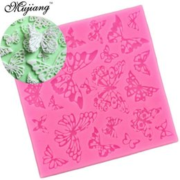 Wholesale Silicone Lace Mats - DIY Butterfly Flower Snowflake Silicone Lace Mat Sugarcraft Cookie Cupcake Fondant Cake Decorating Tools Kitchen Baking Moulds