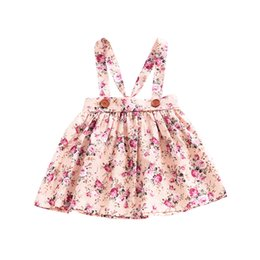 dee23394b1ce Baby Girls Dress INS Summer Fashion Vintage Floral Flower Printing Strap  Dress Suspender Skirt Girls Clothes Kids Clothing Free Shipping 236  supplier ...