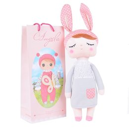 Wholesale Metoo Stuff Toys - Metoo Angela plush dolls 35cm baby toy doll sweet lovely stuffed toys Dolls for kids girls Birthday Christmas Gift with bag