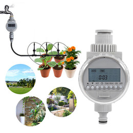 2019 riego con temporizador de agua Temporizador de agua electrónico automático Controlador de riego inteligente de energía solar Sistema de riego por aspersión de inteligencia digital riego con temporizador de agua baratos