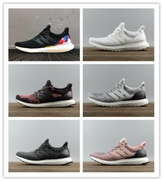 Wholesale Rainbow Shoes Sale - 2018 New Hot Sale Ultra Boost 3.0 LGBT R Men Running Shoes Ladies UB3.0 Rainbow black white Sneakers