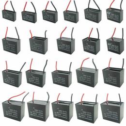 motores de ventilador Rebajas CBB61 450V 1uF ~ 6uF Conductor de rectángulo de funcionamiento del motor del ventilador de techo terminal