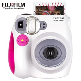 Wholesale fuji instax mini 7s film - Genuine Fujifilm Fuji Instax Mini 7s Instant Film Photo Camera Pink Blue Back Color instock Free Shipping cheaper than mini 8