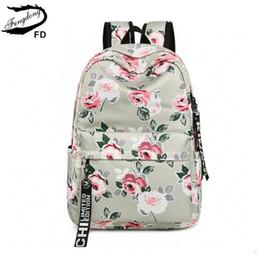f32d9ba47802 FengDong chinese style floral school backpack flowers backpacks for teenage  girls school bags laptop computer bag schoolbag gift S914