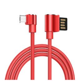 1.2 M Çift 90 Derece Dirsek Örgülü Mikro USB Şarj Kablosu Yıldırım Veri Sync Hattı Tipi C Şarj iPad iPhone 8 Için 7 X Samsung S8 S9 nereden ipad senkronizasyonu tedarikçiler