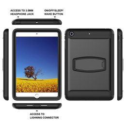 Wholesale Kindle Bundle - For Ipad Mini 3 2 1 Case Disassembly Kickstand Tablet Pc Case Outdoor Sport Silicone Scratch Resistant Protective Case Cover