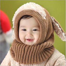 Wholesale Woolen Baby Caps - Enduring New Winter Baby Kids Girls Boys Warm Woolen Coif Hood Scarf Caps Hats