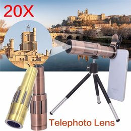 Wholesale Manual Zoom Camera - 20X Zoom 4K HD Phone Camera Lens Kit Telephoto Manual Focus Telescopic Optical Lens HX-2006 For iPhone Samsung XIAOMI phone
