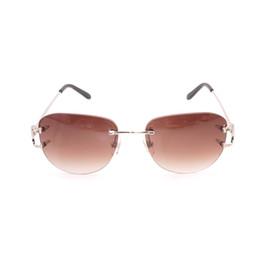 2019 party brillen Vintage ovale Sonnenbrille Männer braune Linse Männer Sonnenbrille Goldrahmen Brillen für Outdoor-Reisen Club Party rabatt party brillen