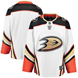 Wholesale Icing Store - 2018 nhl hockey jerseys cheap custom Men's Anaheim Ducks Fanatics Branded White Breakaway Away Jersey store usa sports ice hockey jersey AD