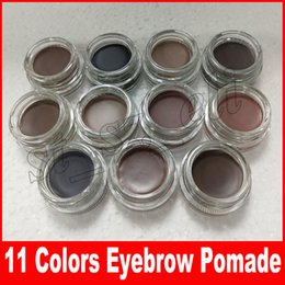 Wholesale Eyebrow Color Cream - New Eyebrow Pomade Eyebrow Enhancers Makeup Long Lasting Waterproof Eyebrow Cream 11 Colors With Retail Package