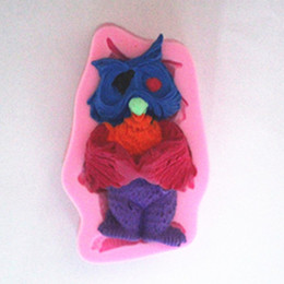 Wholesale Owl Silicone Mold - Standing owl silica gel candy cake mold Chocolate Mold