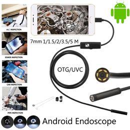 Canada Android Téléphone Micro USB Endoscope Caméra 7mm Objectif 6LED Portable OTG USB Endoscope 1 M 2 M 5 M USB Android Téléphone Endoscope Offre