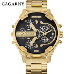 часы мужские большой корпус Скидка Cagarny мужские творческие часы мода Кварцевые наручные часы прохладный большой корпус золотой стальной бизнес военный Relogio Masculino час S917