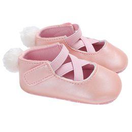 Осень дети принцесса обувь онлайн-Fashion Spring Autumn Baby Infant Shoes Princess Kids Girl Leather Soft Sole Crib Toddler Newborn Shoes First Walkers  #NL