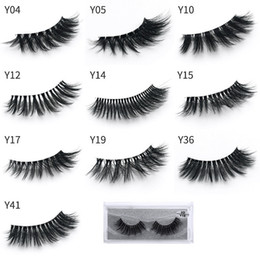 y c Promo Codes - 10 Styles 3d Mink Eyelashes Natural Long Thick False Eye Lashes Eye Makeup Make Up Eyelash Extension Mink Hair Fake Eyelashes Y series