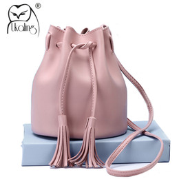 Wholesale Cheap Handbags For Ladies - UKQLING Small Women Messenger Bags Bucket Handbag Cheap Cross Body Bag for Women Bag Female Tassel Shoulder Purse Lady Sac