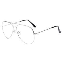 Sonnenbrille männer frauen 2018 Männer Frauen Klare Linse Gläser Metall Brillengestell Myopie Brillen Lunette von Fabrikanten