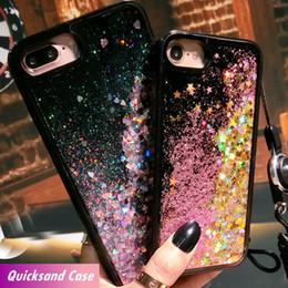 Casi galleggianti online-Per iPhone 6 6S 7 8 plus X Acqua Glitter Quicksand Gel Liquid Soft TPU Floating Glitter Luxury Designer Casse del telefono cellulare 10070