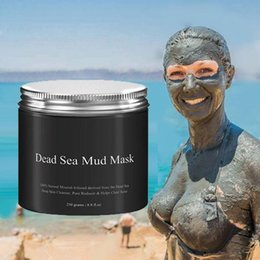 Wholesale Clear Mud - Dead Sea Mud Mask Deep Cleaning Hydrating Acne Blemish Black Mask Clearing Lightening Moisturizer Nourishing Pore Face Cleaner 250g gift