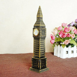 Wholesale London Model - 16cm Metal Craft New London Famous Landmark London Big Ben Tower Model