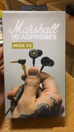 Monitores de computadora profesional online-Marshall Mode EQ Auriculares con micrófono DJ Hi-Fi Headset HiFi Headset Profesional DJ Monitor Auricular para teléfono móvil Ordenador