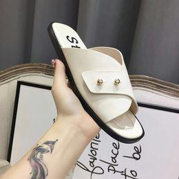 Wholesale Women Beach Shoes Design - 2018 brand design High quality latest women's sandals flat flip flop sandals Roman style beach shoes casual crystal shoes