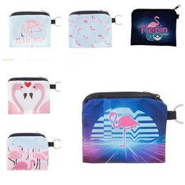 Wholesale Free Packet - Zipper Bag Flamingos Purse Zero Wallet Cute Coin Purses Wallet Lady Coin Bag Key Packet Child Girl Boy Purse DHL Free Shipping