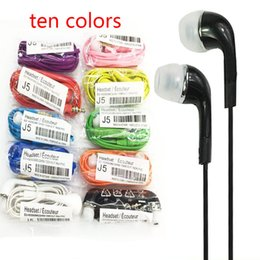 Wholesale Cell Phone Hands Free Headset - 2018 Headphones for S4 S6 S7 3.5mm In ear earphones earbuds J5 headset Hands-free earphone with Mic control For Samsung s4 cell Phones