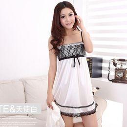 night sleeping dressing Canada - Wholesale- Free Shipping New arrival Sexy  Sleepwear Lace Set Spaghetti 516ea2f78