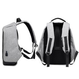 Wholesale Computer Anti Theft - USB rechargeable double shoulder bag waterproof lovers bag computer ckpack outdoor anti-theft travel package student bag wholesale162203 06