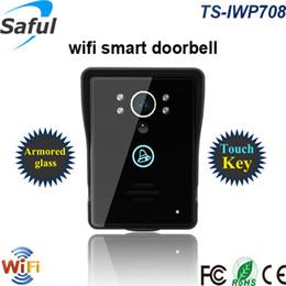 Saful New Smart Intercomunicador de video WiFi para Android ios APP, videoportero táctil inalámbrico para timbre de casa con visión nocturna desde fabricantes