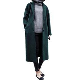 Deutschland ForeMode Women Winter Einreiher Langer Wollmantel Versorgung