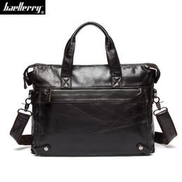 8443b229d18 European Genuine cow Leather bag Business Men bags Laptop Tote  busBriefcases Crossbody bag Shoulder Handbag Men s Messenger