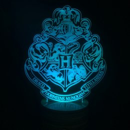 Harry Potter Poudlard Maison Badge Lampe 7 Couleurs Changeant Illusion Visuel Dormant Nuit Lumière Festival Lanterne Glow Party Favors ? partir de fabricateur