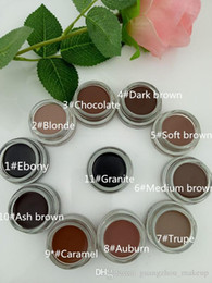 Wholesale package logos - 2017 New Eyebrow Pomade Eyebrow Enhancers Makeup Eyebrow 11 Colors With Retail Package With LOGO