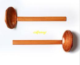 Argentina 50 unids / lote 21 * 7 cm mango de madera de bambú cuchara de la tortuga cuchara de la tabla olla caliente sopa de ramen cucharas cuchara caliente ranurado colador Suministro