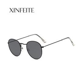 d23e049477b20 Xinfeite óculos de sol de metal retro moldura oval cor revestimento UV400  espelho de viagem ao ar livre óculos de sol para homens mulheres x442