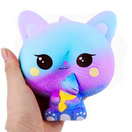 Katze handy-charme online-2018 Hottest Squishies Langsam steigende Icecream Cat Handygurte Weicher Duft Langsamer Rebound-Charme Ice Cream Cat Squishy DHL-frei