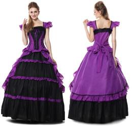 Viktorianische kleidung online-Heißer Verkauf Gothic Victorian Kleid Zeitraum Renaissance Rokoko Belle Prom Kleider Kleidung Kostüm Kleider