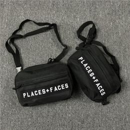mobile nachrichten Rabatt Orte + Gesichter Skateboards Tasche P + F Nachricht Taschen Hüfttasche Brusttasche Sparkle Schwarz Messenger Bags Handy Paket Rucksack